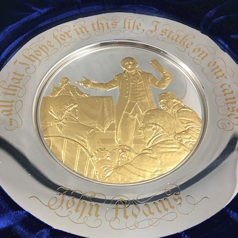 Franklin Mint Presidential Sterling Silver Plate