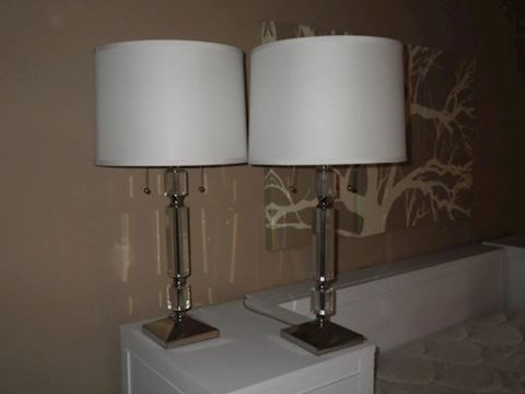 Chrome and Crystal Inspired Lamps