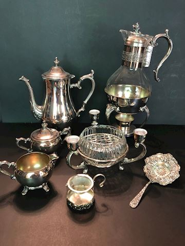Collection of Silver Plate and Stainless Items
