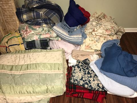 Large lot of linens