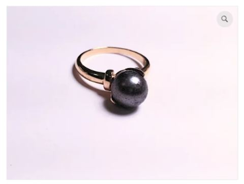 Black Pearl Sterling Silver Ring