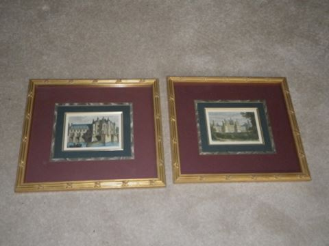 Pair of Framed Castle Pictures