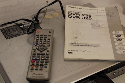 Pioneer DVR 225S DVD Recorder Burner DVD-R RW