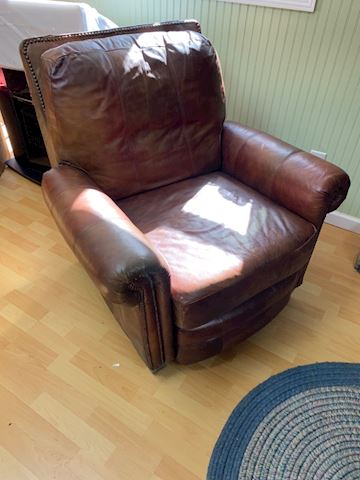 Haverty cuir leather reclining chair