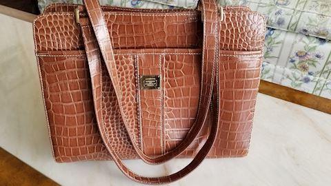 Liz Claiborne crocodile handbag