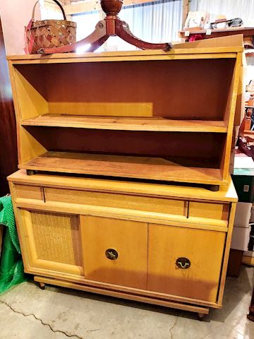 Old Tan Farm Hutch Cabinet