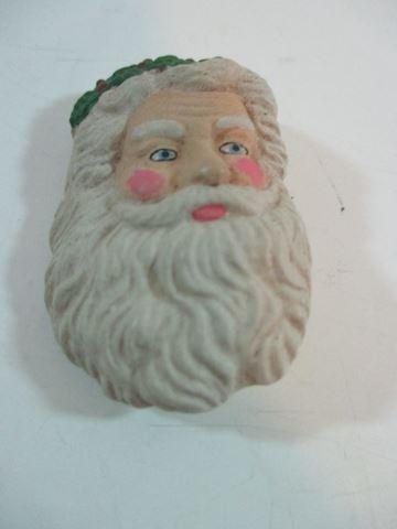 """Santa  Head Brooch 2"""" Resin"""
