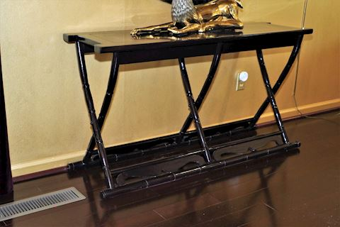 Lacquered Bamboo Console Table