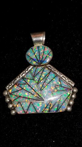 Sterling fancy bold pendant