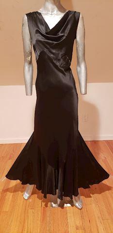1910 Antique Carol Lombard look formal silk dress