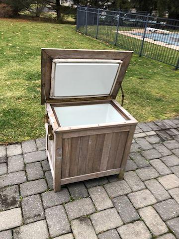 Outside Wood cooler