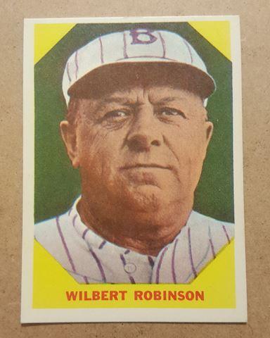 Old 1960 Wilbert Robinson Baseball Card #33