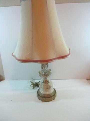 Antique Porcelain Dresden Type  Bust Lamp
