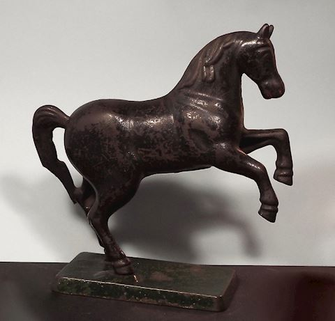1920s Cast Iron Rearing Horse Bank