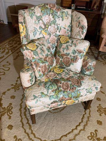 LIV  128  High Back  Floral Chair