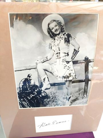 Dale Evans, Actress Signed Matte
