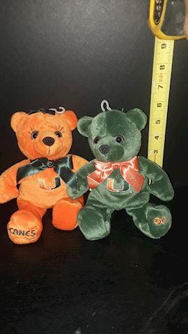 Univesity of Miami Beanie Bears.