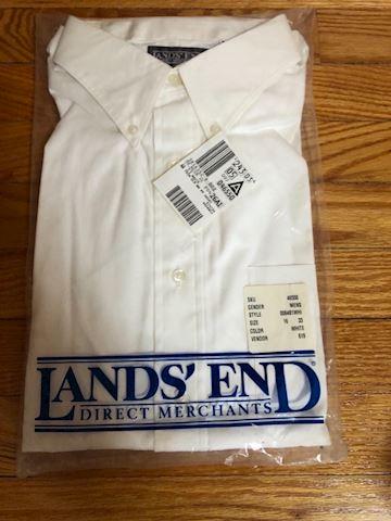 Land's End white button down shirt, size 16, 33
