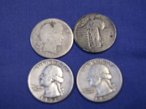 Coins - U.S. silver quarters
