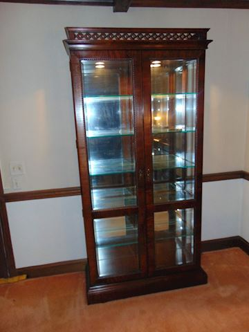 Custom-made Burled Mahogany Display Case