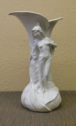 Italian White Porcelain Vase