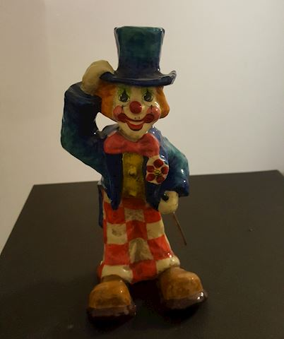 Colorful Clown Figurine