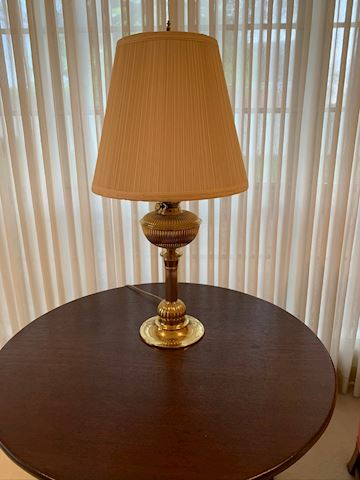 Brass Lamp with shade