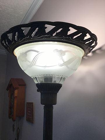 Beautiful metal and glass floor lamp
