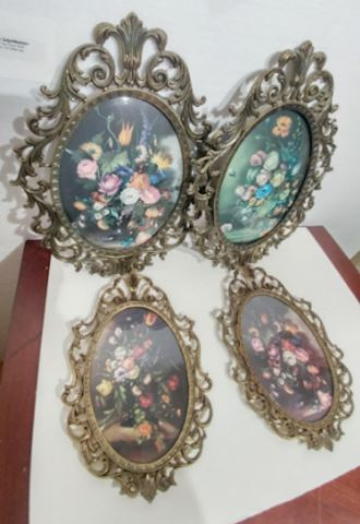 Oval Floral Art Made in Italy
