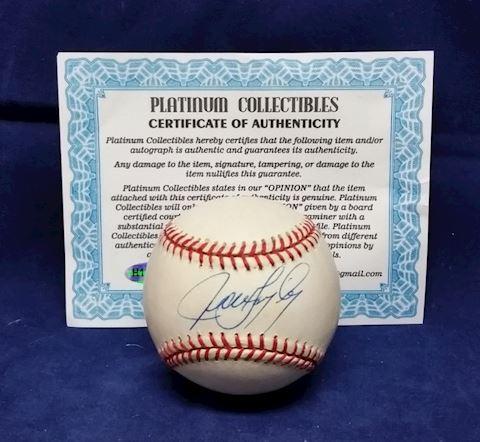 Javier Lopez Autographed Base Ball