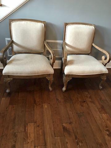 2 beautiful tan chairs