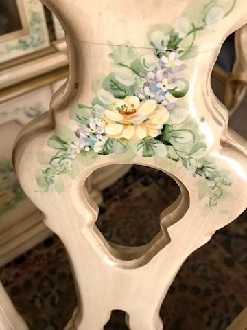 Louis XV French Provincial Handpainted DR Table +
