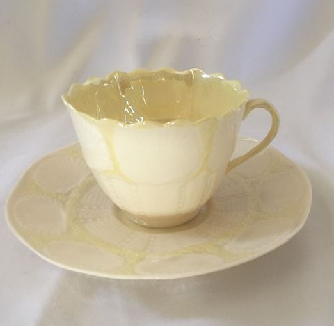 Belleek Teacup and Saucer