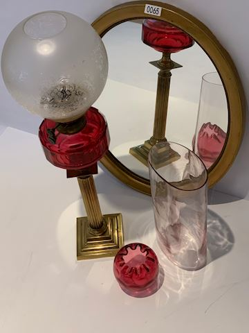 Lot 0065  Made in British Victorian lamp