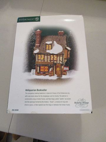 Dept. 56 Dickens. Village Antiquarian Bookseller