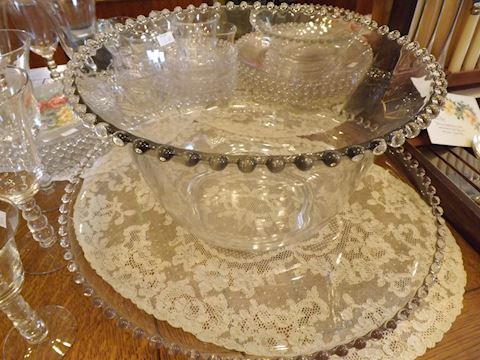 Candlewick Punch Bowl & Underplate Vintage