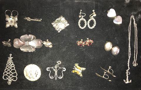15-Piece Sterling Silver Jewelry Lot