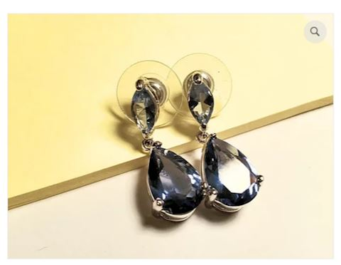 Gemstone Blue Earrings Sterling Silver