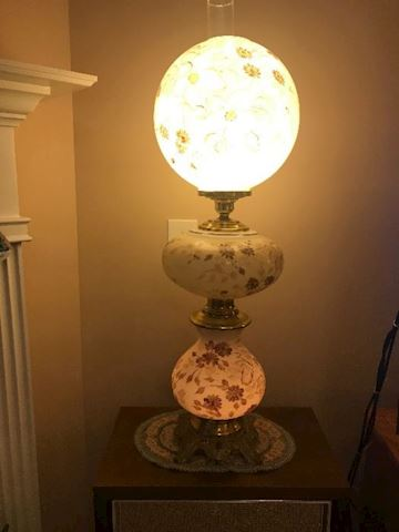 Pair of  Wright NY Parlor Table Lamps