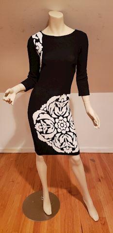 Color Block floral Bizantine knit dress