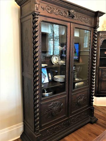Barley Twist Antique English Cabinet