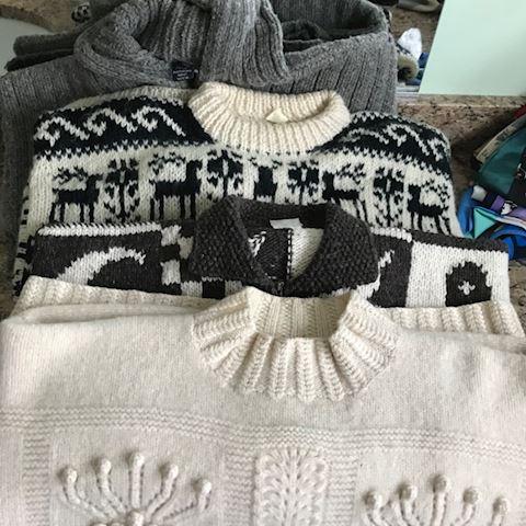 4 Heavy Icelandic Style sweaters