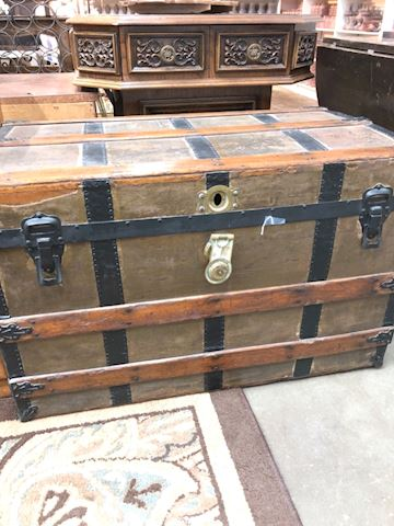 Vintage wooden storage chest