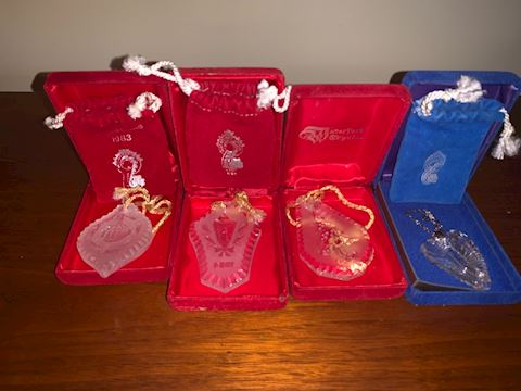 4 Waterford ornaments