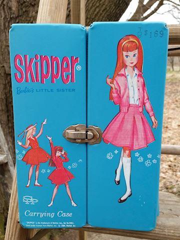 vintage barbie skipper doll case