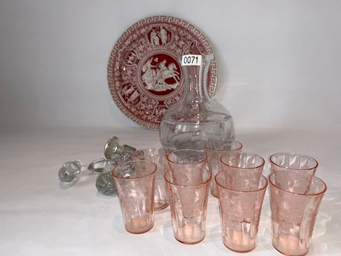 Lot 0071  Assorted crystal set