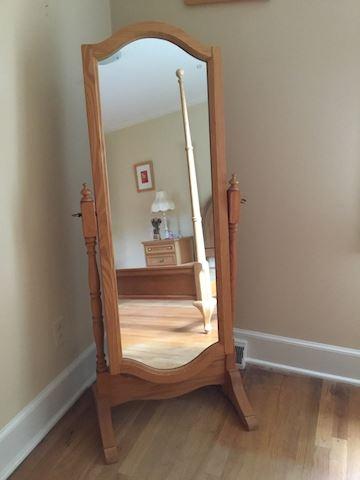 Blonde Floor Mirror
