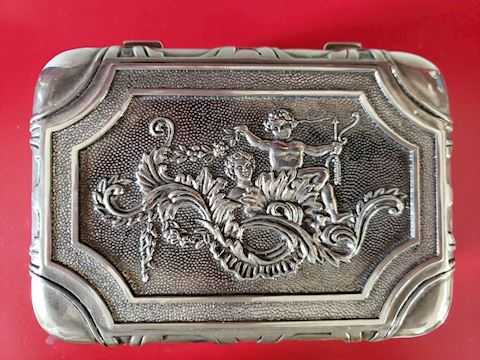 VINTAGE ORNATE SMALL TREASURE CHEST/JEWELRY BOX