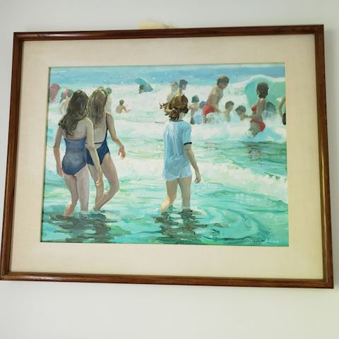 """BY THE SEA"" ORIGINAL OIL PAINTING BY PETER ADAMS"