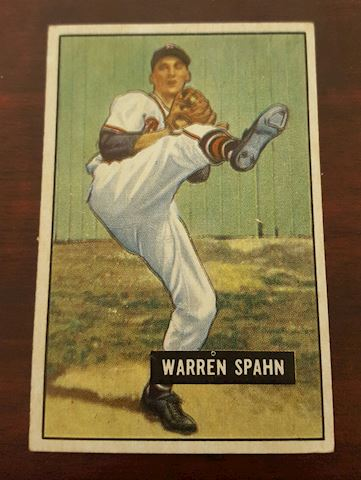 Vintage 1951 Warren Spahn Baseball Card #134